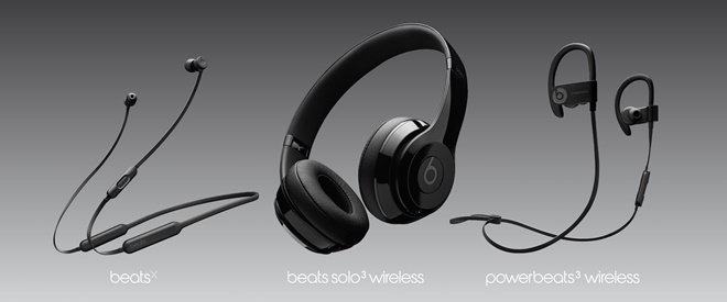 Beats Solo3 Wireless Powerbeats 3 Wireless Beats X